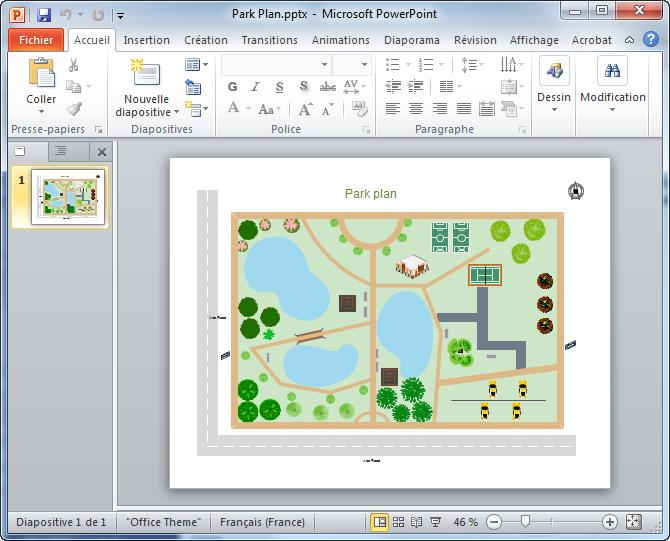 plan de jardin en PPT