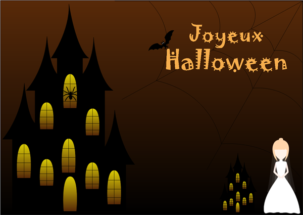 Exemple de carte Halloween