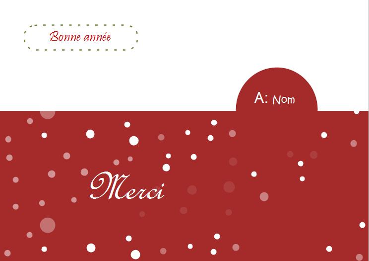 Exemples de carte de voeux - carte de remerciement