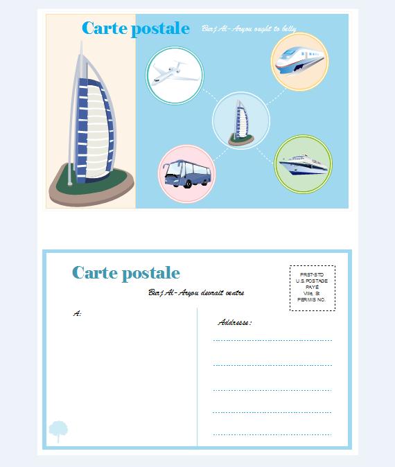 Exemples de carte postale 1