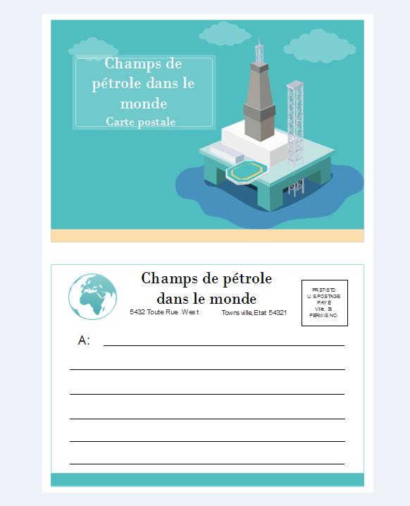 Exemples de carte postale 2