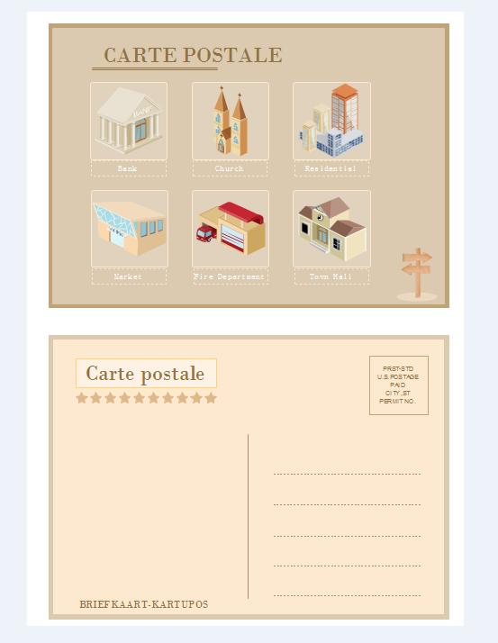 Exemples de carte postale 3