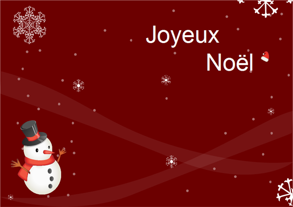 Exemple de carte de Noël