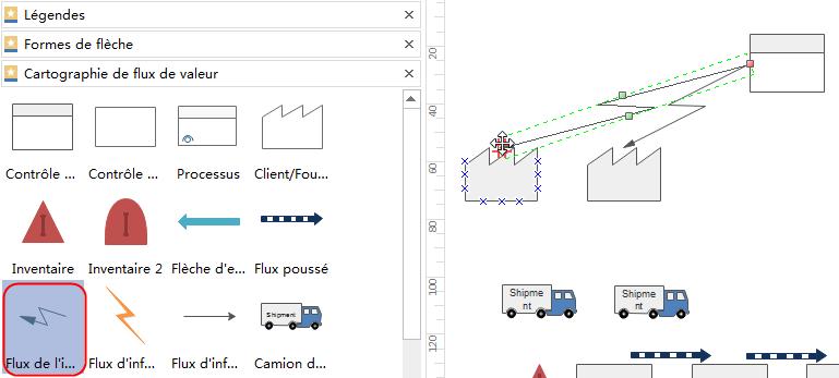 Ajouter des connecteurs pour connecter les formes