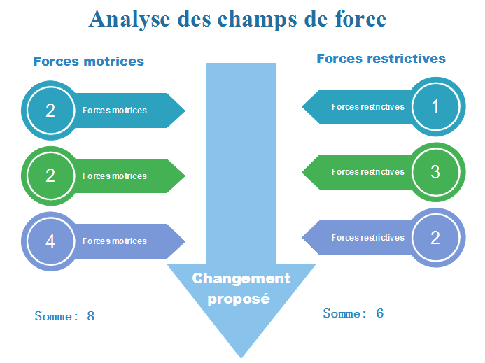 Exemple de diagramme d'analyse des champs de force