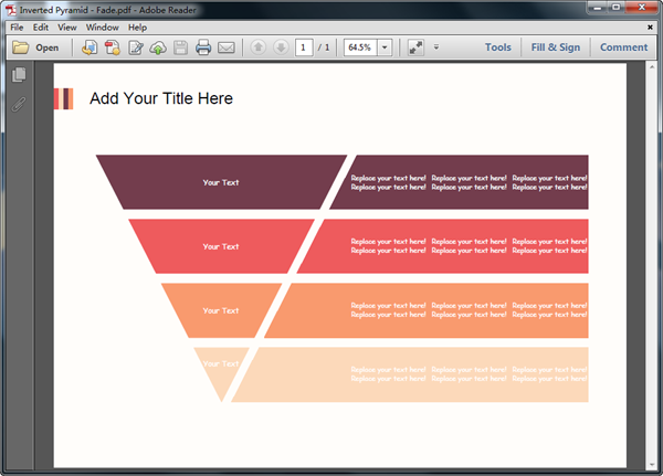 Modèle de diagramme pyramidal au format PDF