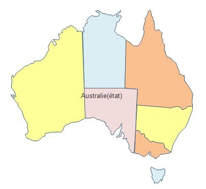 Carte géographique - Australie