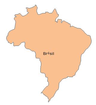 Carte géographique - Brésil