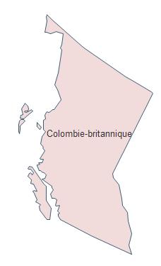 Carte géographique - Colombie britannique