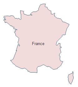 Carte géographique - France