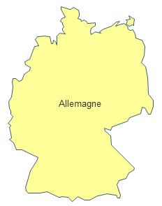 Carte géographique - Allemagne