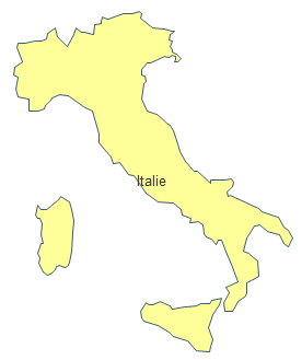Carte géographique - Italie