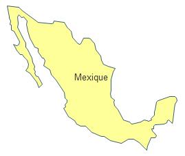 Carte géographique - Mexique