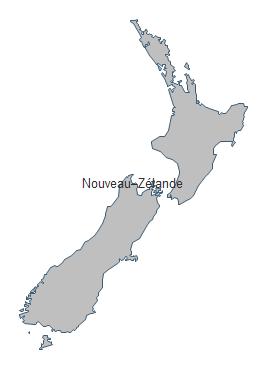 Carte géographique - Nouvelle Zélande