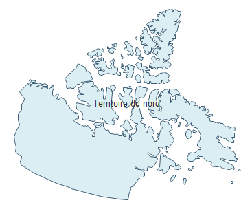 Carte géographique - Territoires du Nord