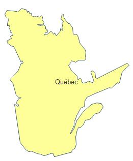 Carte géographique - Québec