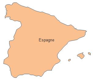Carte géographique - Espagne