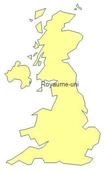 Carte géographique - Royaume-Uni