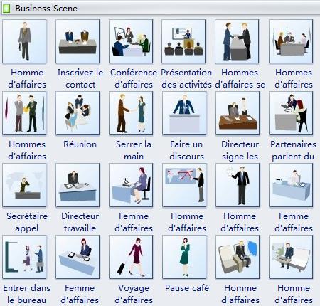 Modèles de Clipart - scène d'affaires