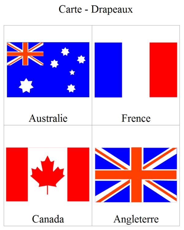 Carte de drapeau