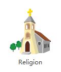 Clipart de religion vectoriel