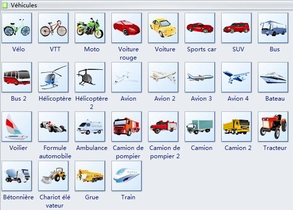 Symboles de véhicules