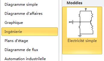 Modèle de schéma électrique simple