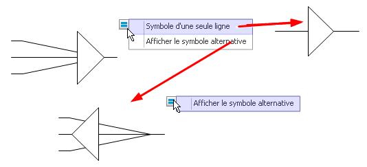 Symboles de Terminaison de câble