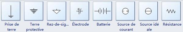 Symboles électriques couramment utilisés