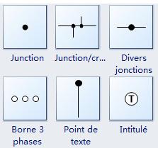 Symboles de connexion