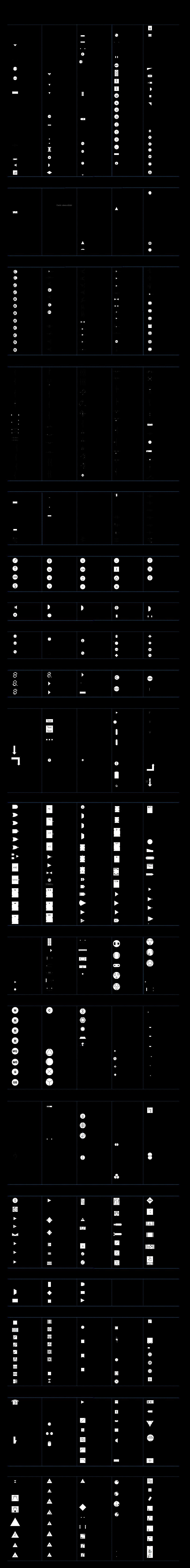 Légendes de symboles électriques normalisés et intutifs
