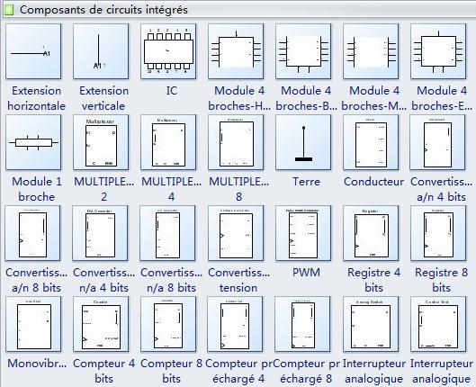 Symboles de circuit - Composants de circuits intégrés