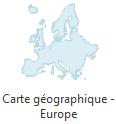 carte géographique - Europe
