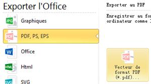 Exporter à Vecteur de format Pdf