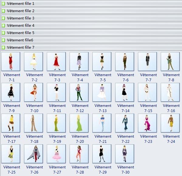 Symboles de design de vêtement fille/femme