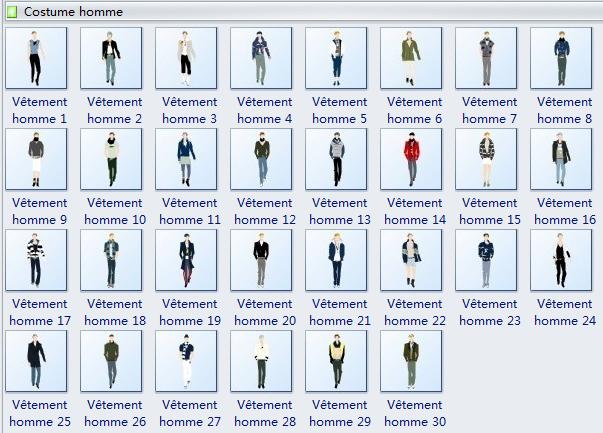 Symboles de design de vêtement homme