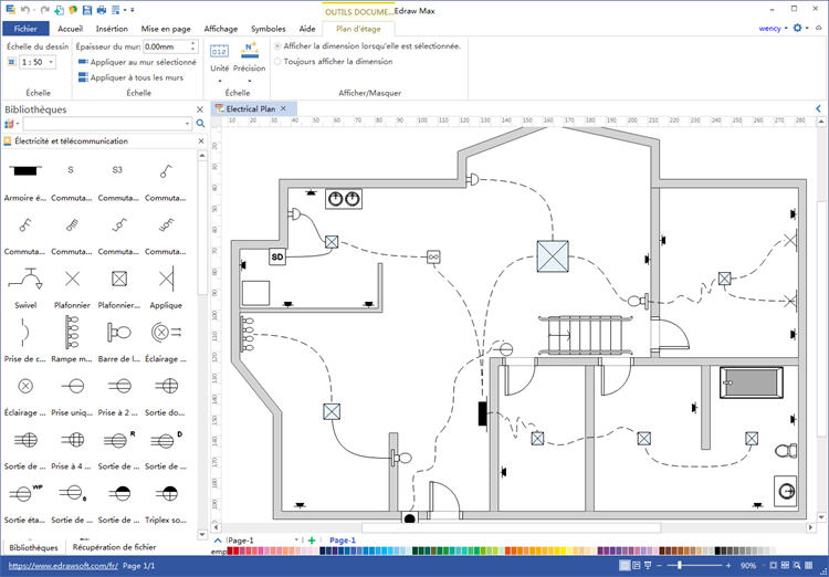 Comment faire un plan de c blage l ctrique maison for Logiciel creation plan maison