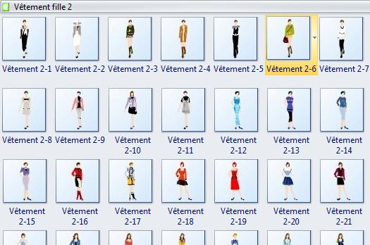 Symboles de design de mode - vêtement fille 2