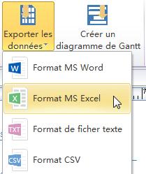 Exporter à MS Word