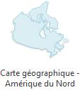 carte géographique - Amérique du nord