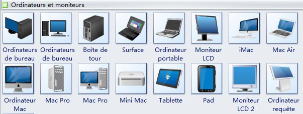 Symboles des ordinateurs et des moniteurs