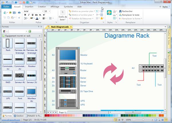 Diagramme en rack Visio