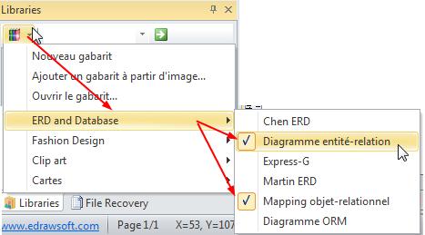 Ouvrir un modèle de base de données ERD