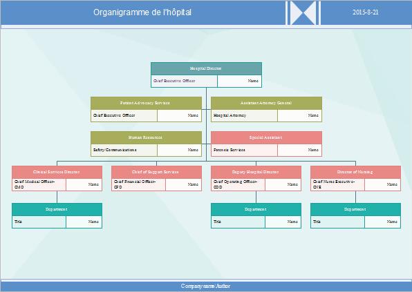 Exemple d'organigramme de l'hôpital