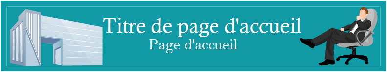 Modèle de bannière de page d'accueil
