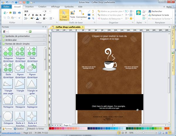 logiciel de cr u00e9ation de prospectus  u2013 edraw max  u2013 logiciel de diagramme