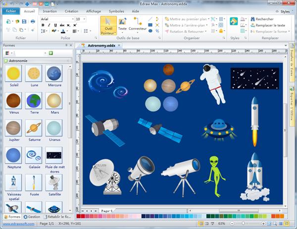 Logiciel pour créer des dessins d'astronomie