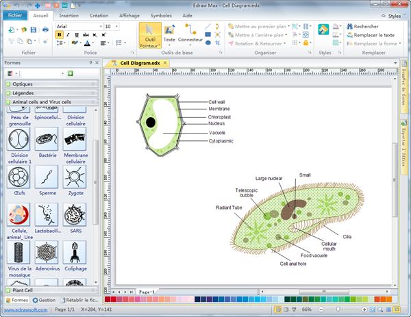 Logiciel de diagramme de cellules