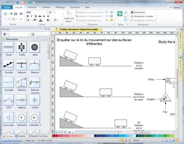 Logiciel de diagramme de la mécanique physique