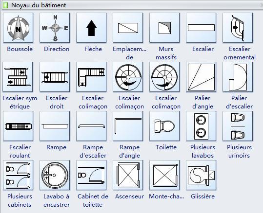 symboles plomberie plan maison